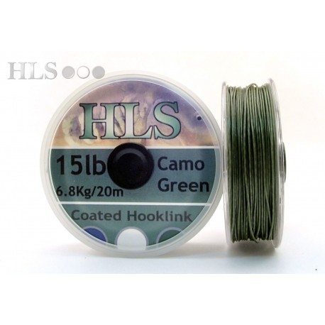 Camo green 15lb coated hook link
