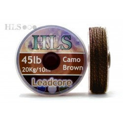 Leadcore Camo brown - 45lb x 10m