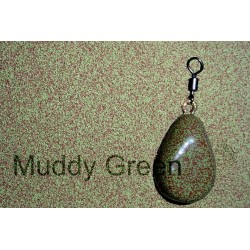Muddy green lead coating powder